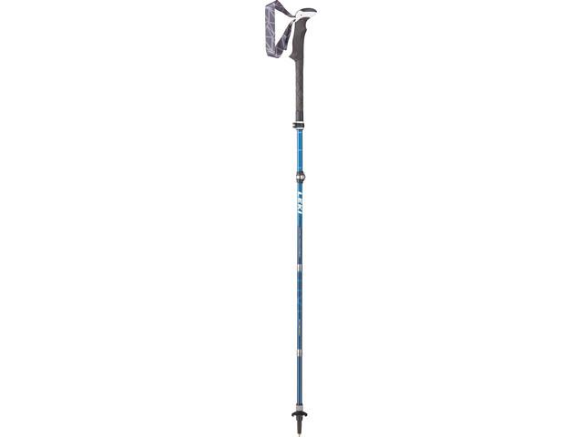 LEKI Micro Vario Carbon AS Bastones de Trekking plegable, blue/white/blue/lime